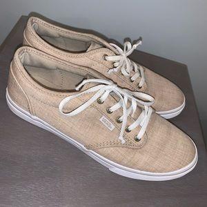 Tan Vans sneakers